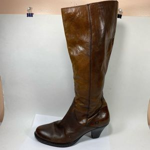 Born Leather Tall Heeled Boots Women's 7.5B